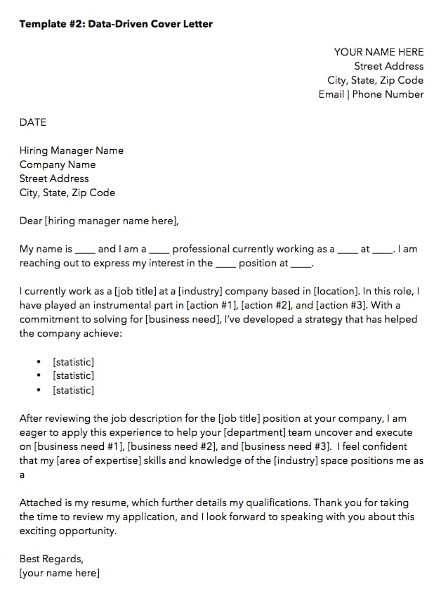 application letter template
