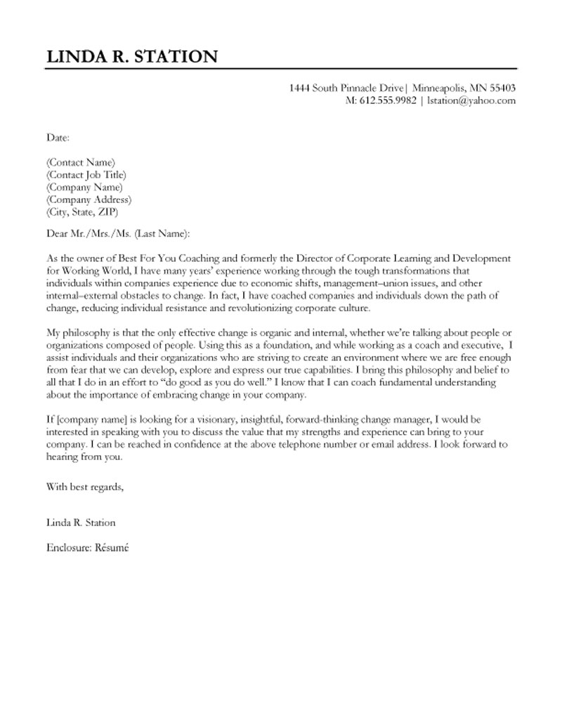 Best Cover Letter Template | | Mt Home Arts