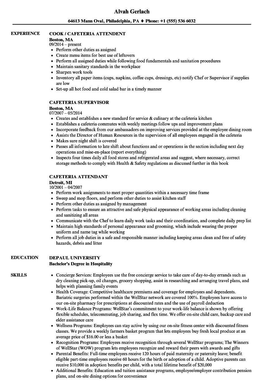 Cafeteria Worker Job Description For Resume Mt Home Arts