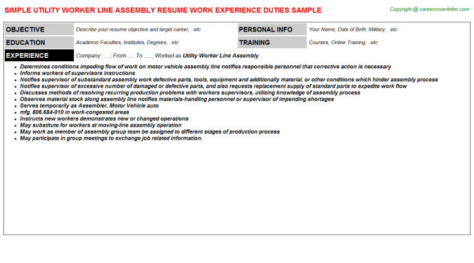 Career Objectives For A Utility Worker Mt Home Arts