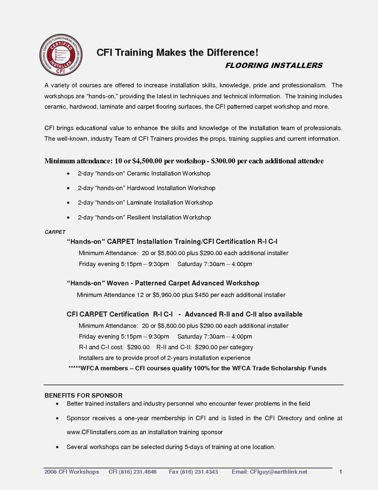 carpet installer job description for resume
