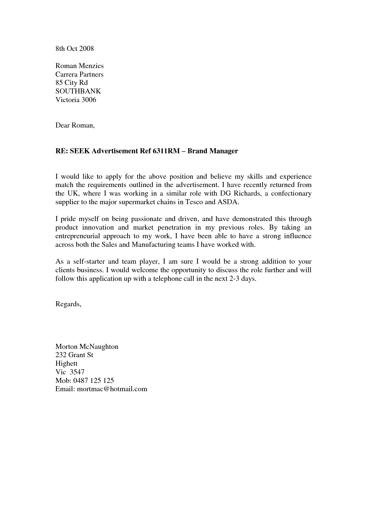 Support Worker Cover Letter With No Experience June 2021