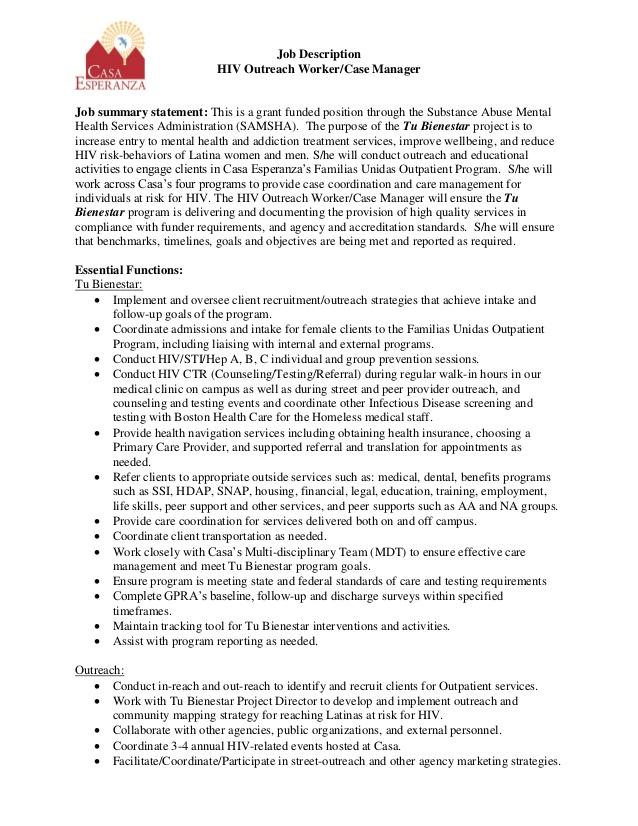 Caseworker Job Description For Resume Mt Home Arts