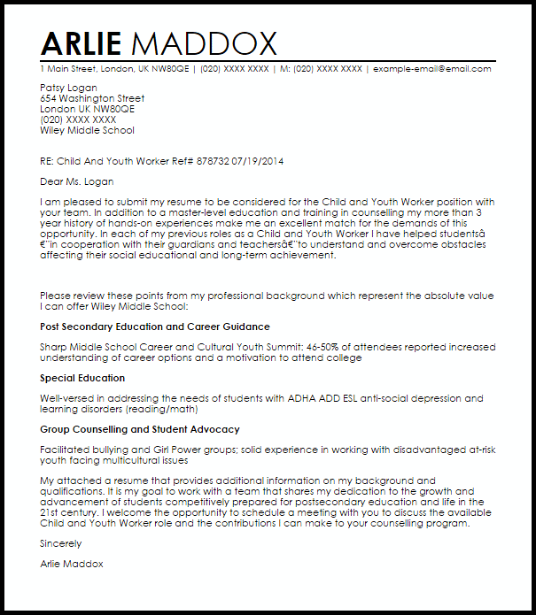 College Student Worker Cover Letter Sample