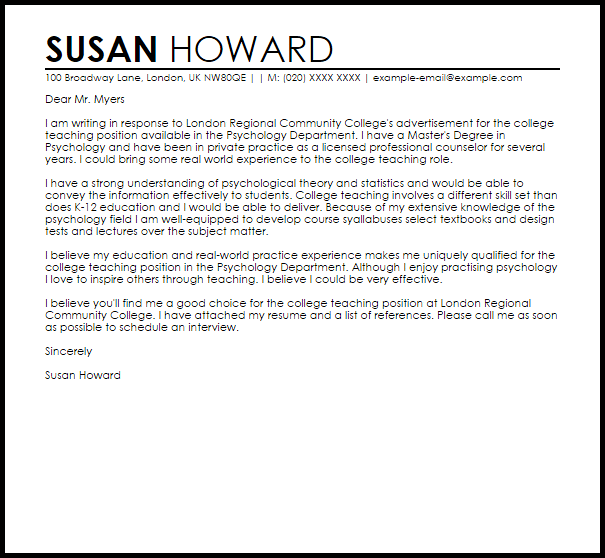 Student Worker Cover Letter June 2021