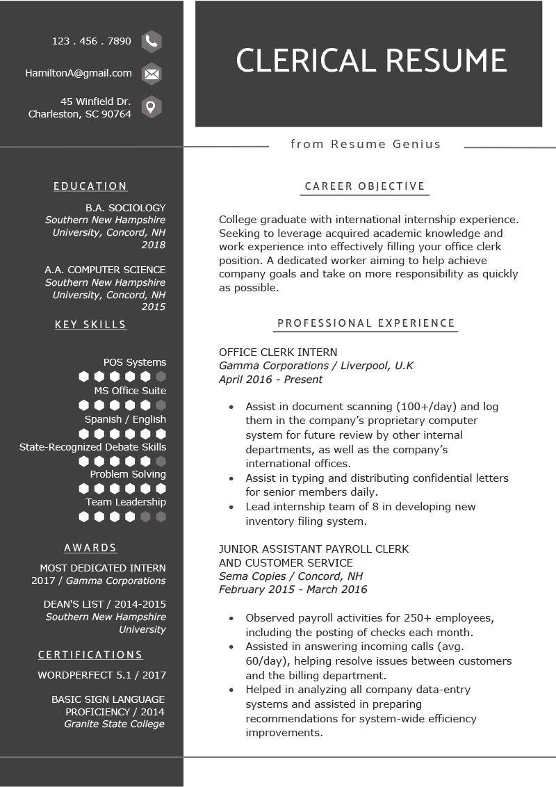 college student worker job description for resume