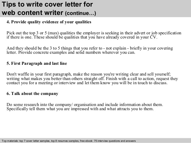 Content Writer Cover Letter Example | | Mt Home Arts