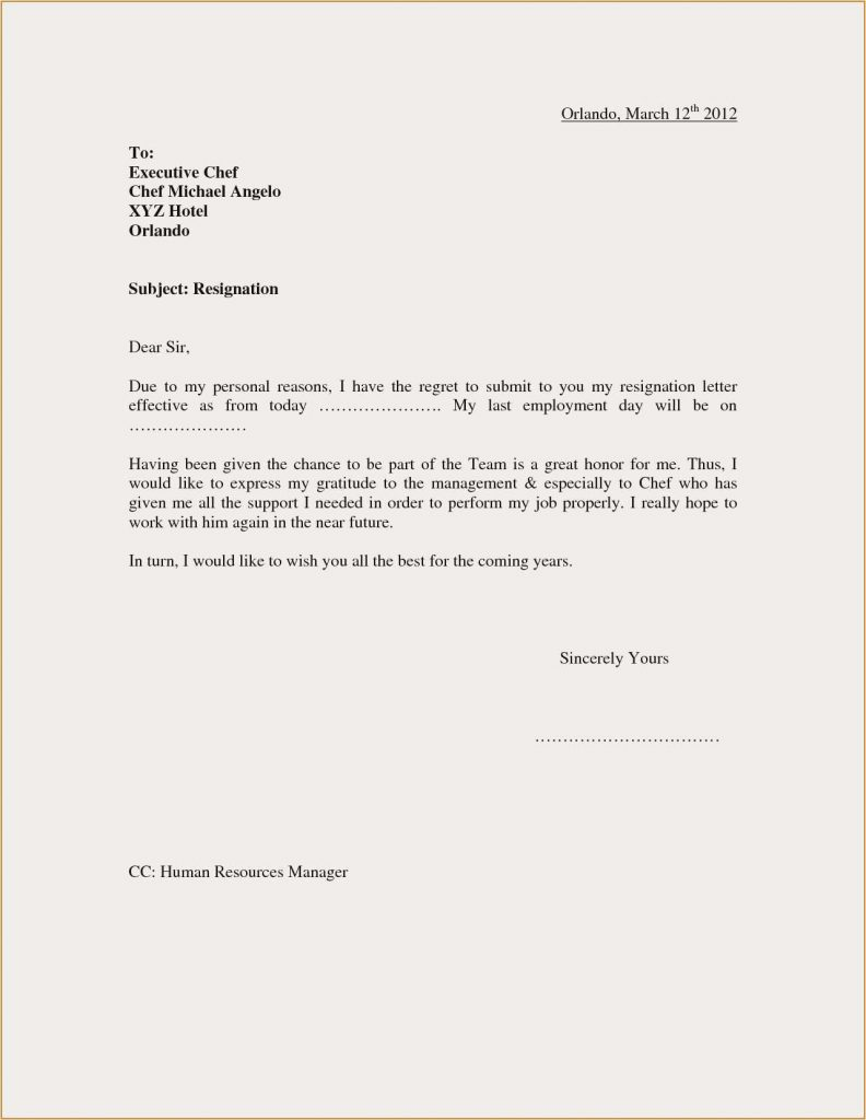 Is A Resignation Letter Required from mthomearts.com
