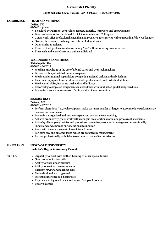 dressmaker-job-description-for-resume-seamstress-resume-sample Template Cover Letter For Admin Job on abandonment termination, application cover, resume cover, offer acceptance, for bank, promotion offer,