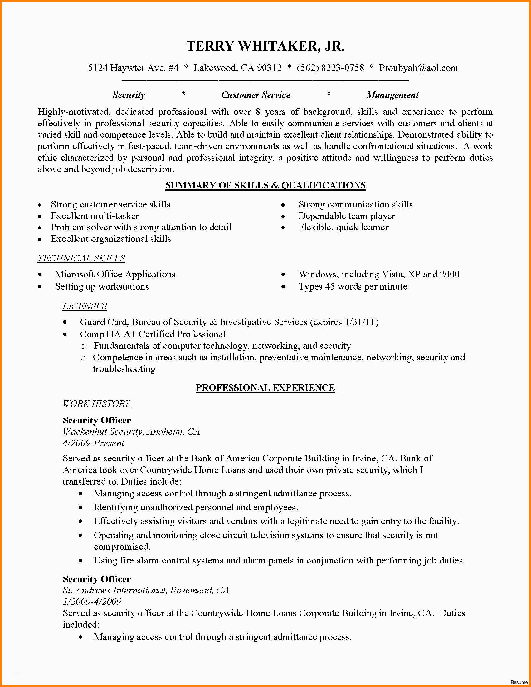 Entry Level Cyber Security Resume Mt Home Arts