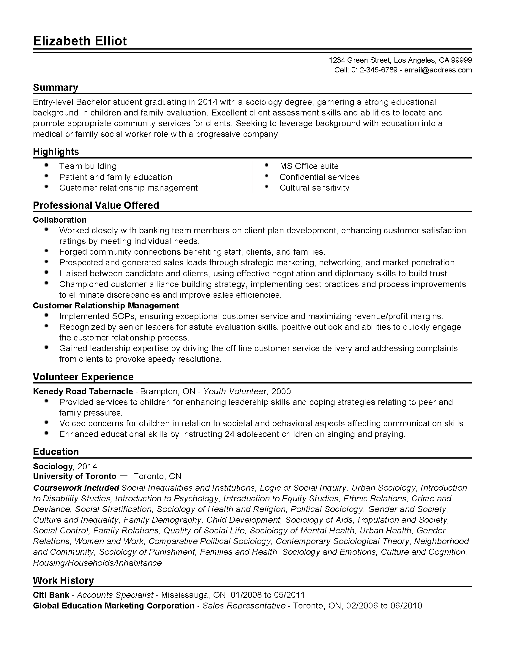entry level social worker cover letter no experience