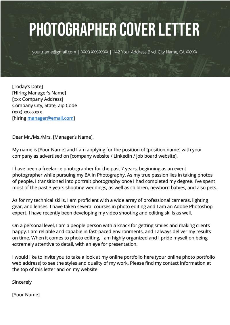Sample Cover Letter Resume Genius June 2021
