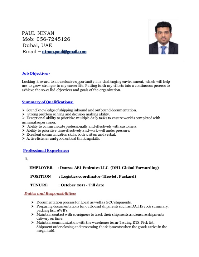 logistics-coordinator-resume-logistics-coordinatorresume-1-638 Cover Letter Senior Accountant on 1st year, for internal position, for staff, for senior, sample for cost, for chartered, examples for entry level, examples for resumes doc,