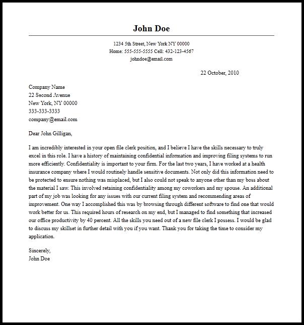 Clerk Cover Letter Mt Home Arts