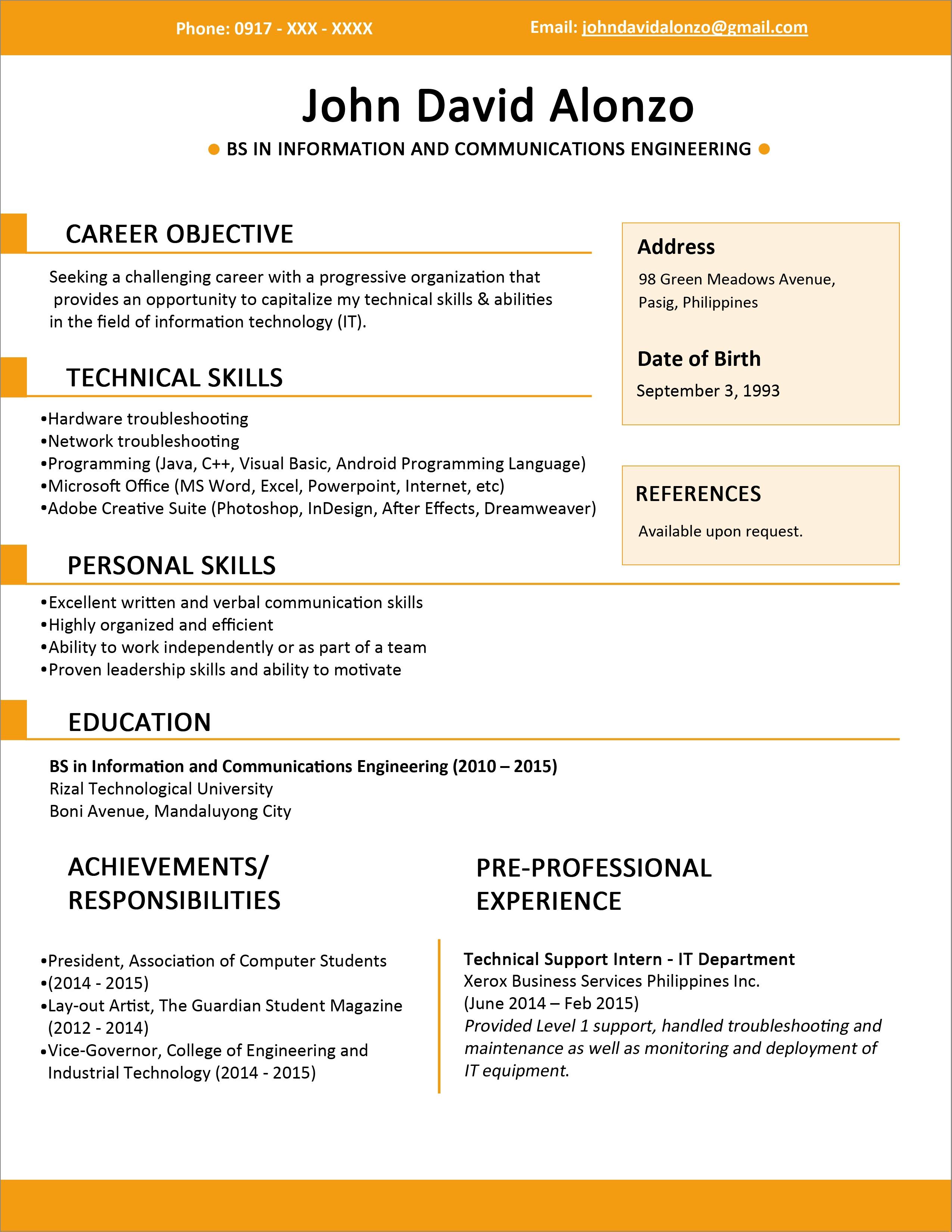 create resume free download
