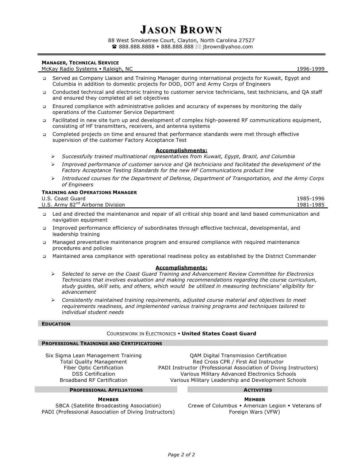 customer services manager resume objectives
