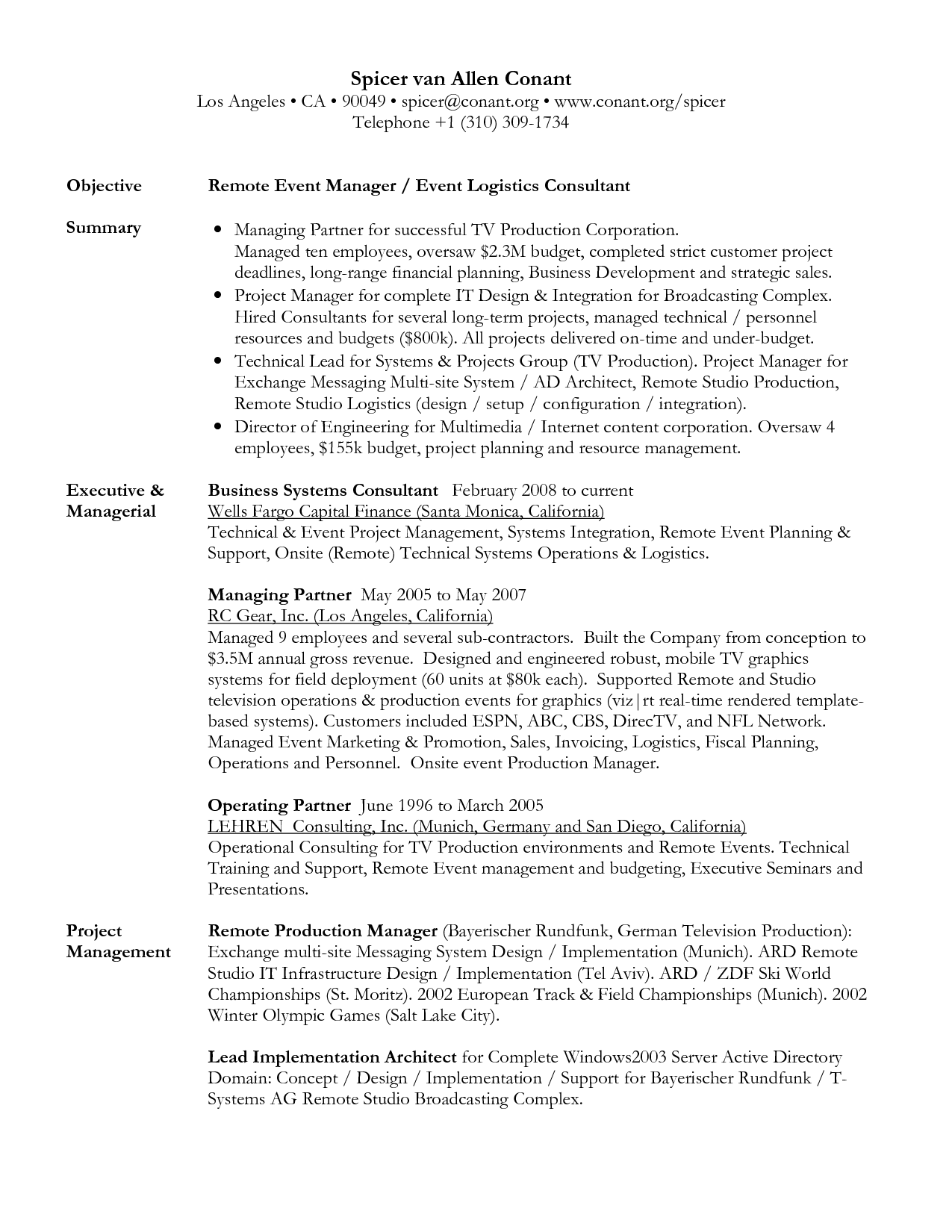 Director Of Operations Resume Objectives Mt Home Arts