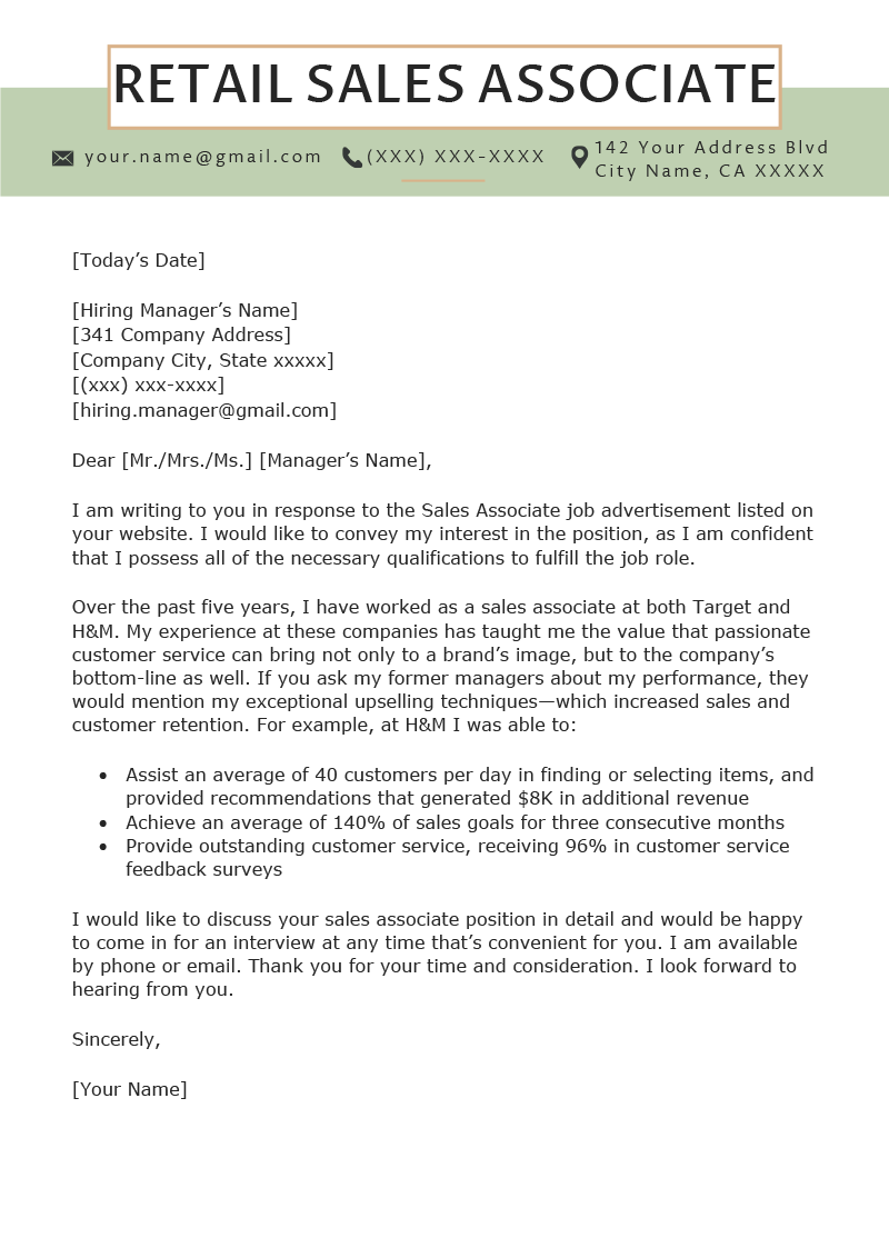 retail cover letter   mt home arts