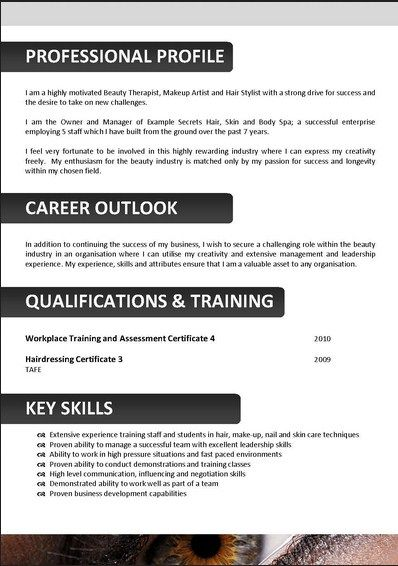 beautician resume skills and samples