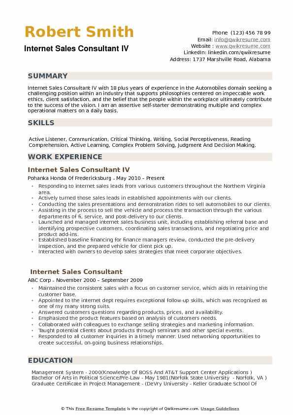 Best buy sales consultant resume