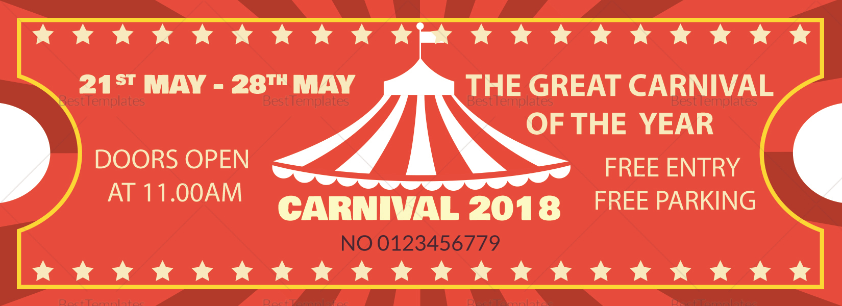 Carnival Ticket Template Mt Home Arts