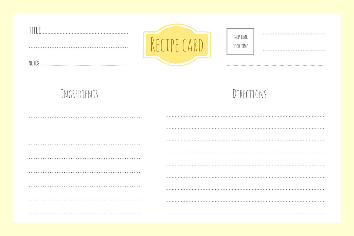 blank recipe template mt home arts