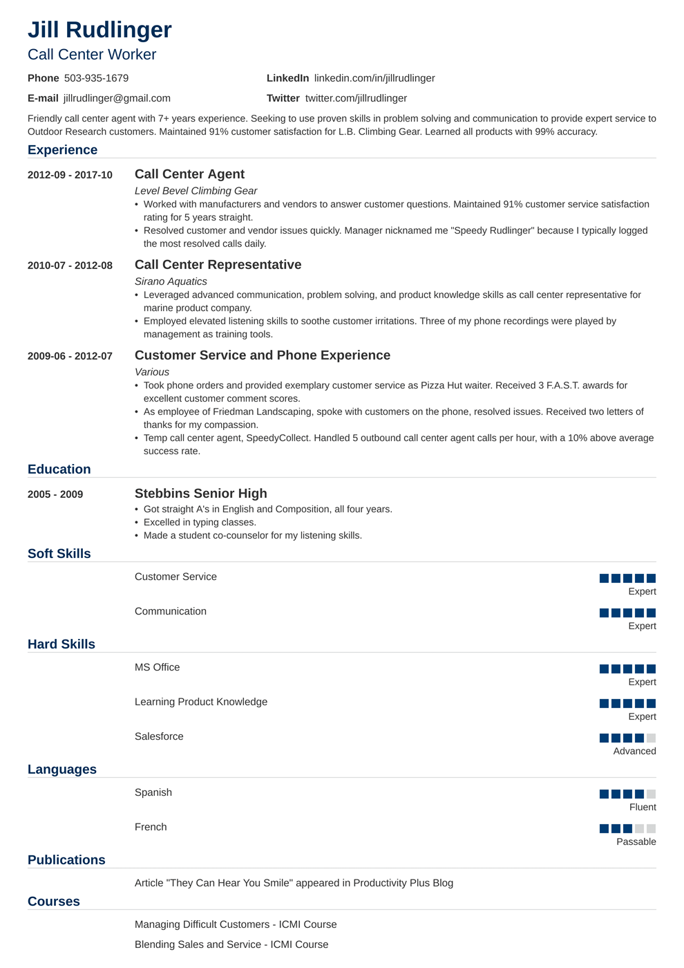 Customer Call Center - Term Paper
