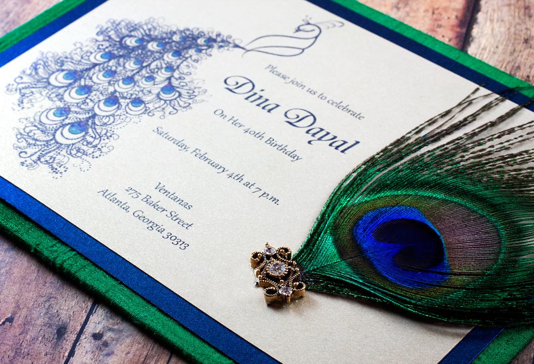 peacock invitation design   mt home arts