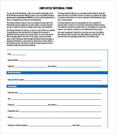 Sales Referral Form Template Mt Home Arts